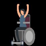 Frau im Rollstuhl - Assistenznehmerin